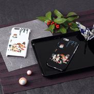 高盛り蒔絵iPhone6カバー 金魚づくしぼんぼん(ブラック、ホワイト)