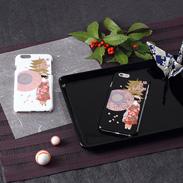 高盛り蒔絵iPhone6カバー 舞妓(ブラック、ホワイト)
