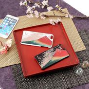 高盛り蒔絵iPhone6Plusカバー 赤富士(ブラック、ホワイト)