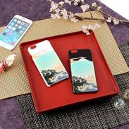 高盛り蒔絵iPhone6Plusカバー 横山大観「蓬莱山」 (ブラック、ホワイト)
