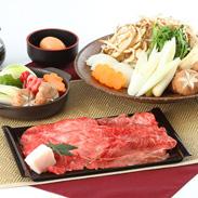 厳選食材を使用した 三田牛(または特選黒毛和牛)すきやきセット