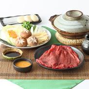 厳選食材を使用した 兵庫県産牛(または特選黒毛和牛)しゃぶしゃぶ セット
