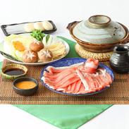 厳選食材を使用した 三田ポーク豚しゃぶセット