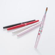 携帯用スライド式・熊野化粧筆リップブラシ1本【セーブル】宮尾産業 広島県