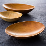 うつわセット 銘木工芸・山匠 京都府 樹齢数百年の銘木を匠の技で仕上げました。杢目の美しさとやさしい温もりを感じて下さい