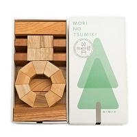 MORIMO 森の積み木 MORI NO TSUMIKI 天然 木のおもちゃ〔積み木ブロック×50個〕