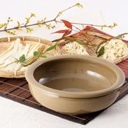 手作り麺・ピザ生地が美味しく仕上がる こね鉢 25.5白 石見焼