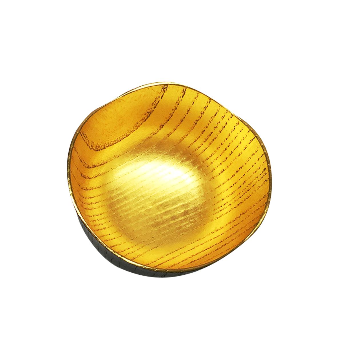 花びら黄金呑み 〔直径62mm×高さ48mm〕 ぐい呑み 酒器 和食器 京都 五明