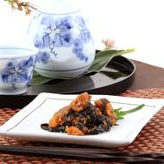 若芽を甘辛い佃煮にして帆立と合わせた 北海道産帆立と若芽の合わせ炊き