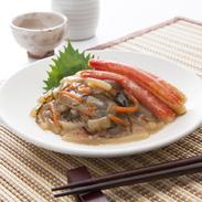 いか刺し松前わさび味カニ入り サンスイ食品株式会社 北海道 北海道産の海鮮素材を贅沢に使った、北の味覚を代表する一品。