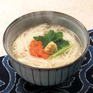 コシのしっかりした 即席手延べにゅうめん 生姜スープ味