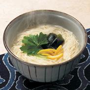 コシのしっかりした 即席手延べにゅうめん 国産柚子の味噌スープ味