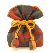 昔ながらの着物地で仕立てた巾着袋 FUGURO(吉祥文様)小サイズ