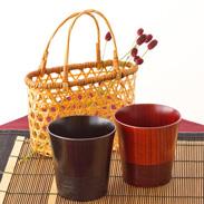伝統の技術と伝承の技術を込めた逸品 「伝」山中塗 ロックカップペア