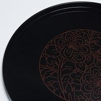 東出漆器店 牡丹 10.0丸盆〔直径30cm×高さ2cm〕