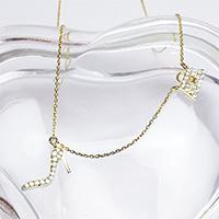 エリズ・オリジナルデザイン ハンドバッグ&ハイヒールモチーフ ネックレス(ゴールド)