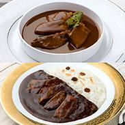 味の牛たん喜助 プレミアム牛たんカレー&シチューセット〔牛たんカレー2個、牛たんシチュー2個〕