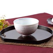 伝統の技が食卓をさらに豪華に 美味しく演出 銀彩ピンク 飯碗