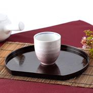 伝統の技が食卓をさらに豪華に美味しく演出 銀彩ピンク 湯呑 九谷焼