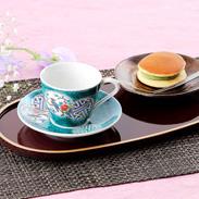 繊細さと力強さを兼ね備えた伝統の絵柄 カップ&ソーサ 古九谷風丸紋