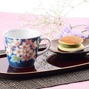 四季の花 桜マグカップ|株式会社九谷陶泉・石川県
