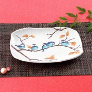伝統の技が食卓をさらに豪華に演出 山雀 10.7号盛皿