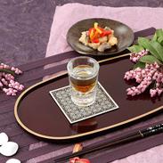 上質な空間を演出するワンポイントに  ラメ織物コースター ワイズテキスタイル・岐阜県