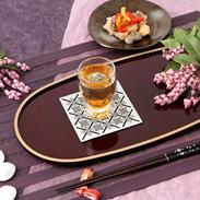 上質な空間を演出するワンポイントに  ラメ織物コースターA ワイズテキスタイル・岐阜県