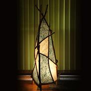 竹野浜に打ち寄せられた流木使用! 和みの灯り(なごみのあかり)照明つき