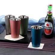 「匠の技術」の融合 漆磨カップ 二重ストレートカップ