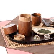 幸せの木「槐」を用いた茶筒 槐 茶筒(中)