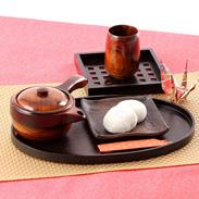 山中温泉で培われた漆器技術の結晶  栃 急須(中)
