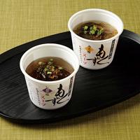 もずくスープ〔醤油もずくスープ(もずく40g、スープ15g、七味唐辛子、乾燥ネギ)・味噌もずくスープ(もずく40g、スープ15g、七味唐辛子、乾燥ネギ)×各4〕