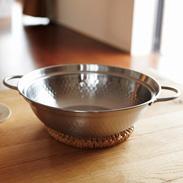 ステンレス製卓上鍋 肴七味 〔約高さ8�p×径27.3cm、厚み約1mm〕