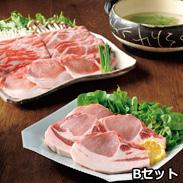 沖縄県産豚あぐーしゃぶしゃぶ・ロースステーキ用詰合せ 3.6�s 〔ロース肉・モモ肉・バラ肉 各300g×各2個、ロースステーキ(2枚切、計300g)×3個〕