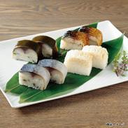 鯖寿司・ほたて寿司セット 4種 〔鯖棒寿司・鯖浜焼棒寿司・鯖昆布巻寿司・ほたての押し寿司各300g〕