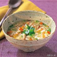 バラエティー詰合せ 5種〔ふぐ雑炊スープ341g×2袋、かに雑炊スープ333g×1袋、しそわかめ90g×2袋、おかゆふぐスープ仕立250g×1袋、おかゆかにスープ仕立250g×1袋〕