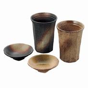 カップ小皿セット〔カップ 約高さ12.5×径9.4cm 小皿 約高さ3×径10cm〕
