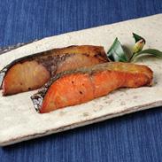 西京漬焼魚・焼鮭食べ比べ〔西京漬焼魚(紅鮭・赤魚・ぶり)、焼鮭 各60g×1〕