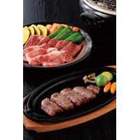 神戸牛ミニステーキ・焼肉用詰合せ〔モモ肉(ミニステーキ)300g(5枚)、バラ肉・モモ肉各350g(焼肉用)〕