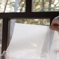 加栄レース 目隠し効果 UVカット 結露対策 シールで簡単 窓に貼る美濃和紙レース〔2枚組 縦900mm×横900mm〕