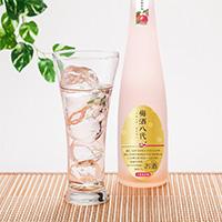 梅酒八代(露茜) 合資会社広瀬商店 茨城県 茨城県産の新品種梅、露茜(つゆあかね)を使ったきれいな紅色でプラムのような香りの梅酒です。