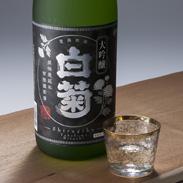 白菊大吟醸 合資会社日広瀬商店 茨城県 選りすぐりの酒造好適米を40%まで磨きあげ、丁寧に醸した深みのある大吟譲です。