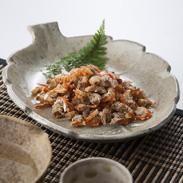 瀬戸内産干しえび 有限会社山世水産 山口県 瀬戸内海産の赤えびを塩のみで茹で上げ乾燥させた、風味豊かで濃厚な味わいの干しえびです。
