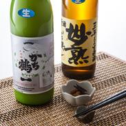 かち鶴生原酒飲みくらべセット(妙熟・おり酒)かち鶴酒造 愛媛県 3年貯蔵生原酒の美味しさと、にごり酒とは異なる「おり酒」の飲み比べセット。