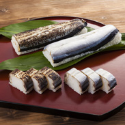 サンマ寿司4本セット 紀溯 和歌山県 ほどよく脂の落ちた新鮮なサンマを自家製酢でしめた押し寿司。本州最南端・串本町より直送
