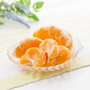 粒楽(冷凍みかん・冷凍しらぬい) 有限会社南四国ファーム 愛媛県 皮を剥かずに、アイス感覚で食べられる冷凍みかん