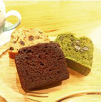 マクロビパウンドケーキセット〔豆腐ショコラ・メイプルフルーツ・小松菜抹茶小豆×各4個〕