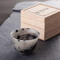 ぐい呑 水口青玉堂 富山県 艶やかな輝きと自然石ならではの色合いが美しい、すべて1点ものの伝統工芸品