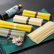 島原手延べ麺 七福セット(箱入り・包装) 川上製麺 長崎県 三世代の麺師が伝統製法で作り上げた、バラエティ豊かな麺